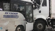 Beyşehir Konya Yolunda Kaza : 20 Yaralı