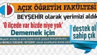 AÖF Sınav Merkezlerinde Beyşehir'de Yer Aldı, FAKAT!