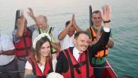 Jetboat Üzerinde Mutluluğa 'Evet' Dediler