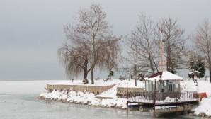 Beyşehir Gölü Buz Tuttu