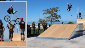 Konya'nın İlk Skate Parkı Beyşehir'de Tanıtılarak Açıldı