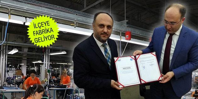 Murat Özaltun, 300 Kişilik Tekstil Fabrikası İçin Protokol İmzaladı