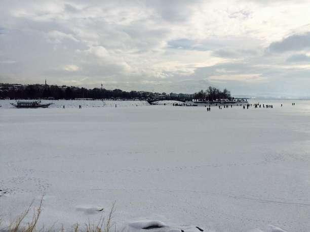 Beyşehir Gölü'nün Kenarları Buz Tuttu - 2017